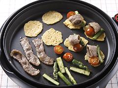 焼きチーズの肉野菜カナッペ
